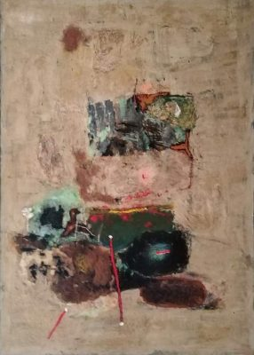 "Thomas Habedank ""Micado"", 2019, Mischtechnik auf Leinwand, 120x140 cm"