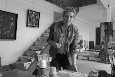 Antje Burr im Atelier