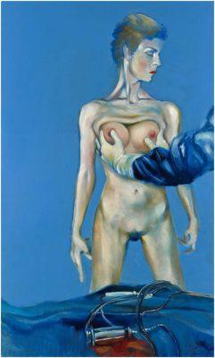 """David Baldwin, """"Der Modellbauer."""", 2009, 90x140 cm, Öl auf Tafel"""