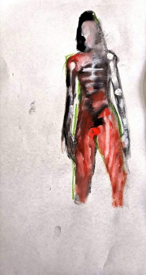 "David Baldwin ""Fig 14"", 2020, mixed Medie auf Papier, 42x28cm, 80 Euro ohne Rahmen"