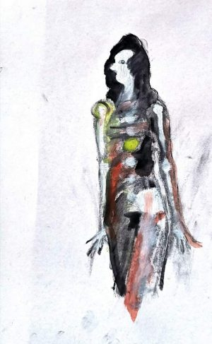 "David Baldwin ""Fig 33"" (2020) | mixed Media auf Papier | 42x28 cm"
