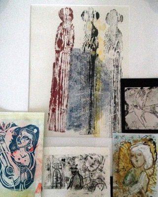Franziska Groszer, Radierungen, Monotypien