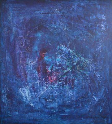 Koki van Trotten-Blau19-2018-Acryl auf Leinwand-110x100cm