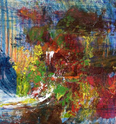 "Koki van Trotten ""Miniatur m_t44"" (2015), Acryl auf Karton, 6 x 5,5 cm"