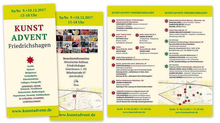 Kunstadvent 2017 Flyer
