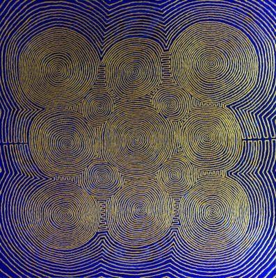 """Vibrationen"", Acryl auf Leinwand. 80x80 cm"
