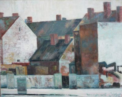 "Michael Otto, ""Adlershof"", 2017, Ölfarbe, Leinwand, 30x38 cm"