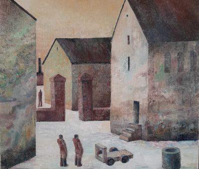 """Michael Otto """"Ketschendorf, Fürstenwalde"""", 2020, Öl auf Leinwand, 48x56 cm"""