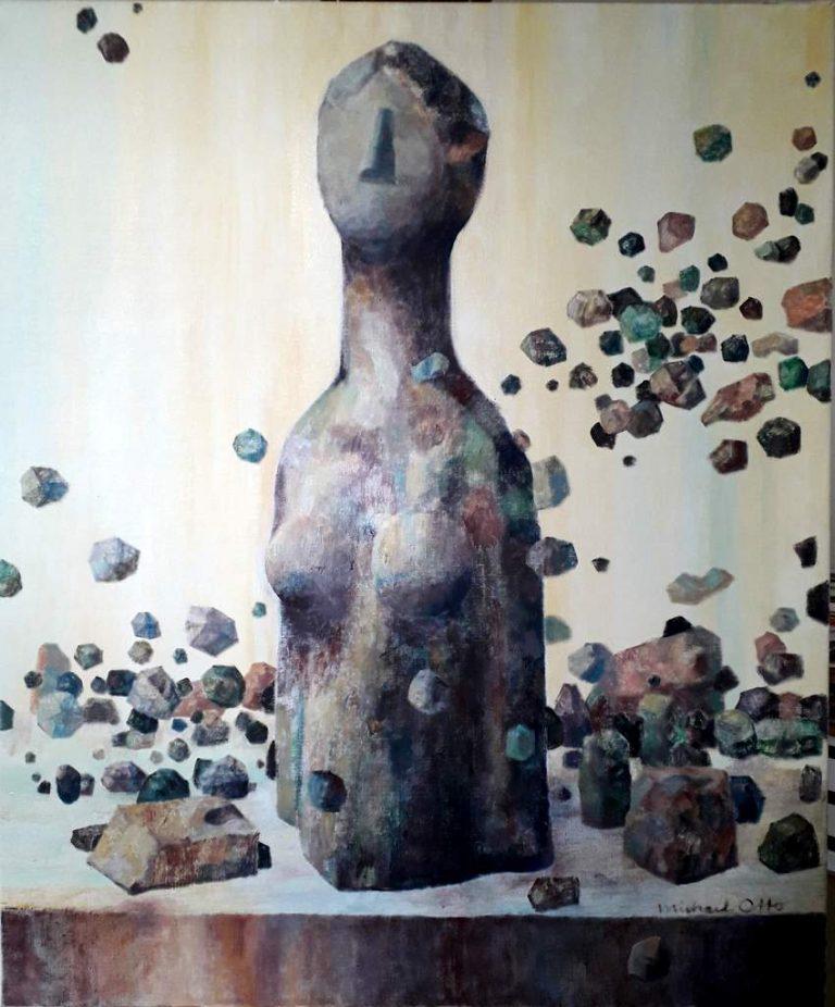 "Michael Otto ""Das Idol"", 2018, Ölfarbe, Leinwand, 90x75 cm"
