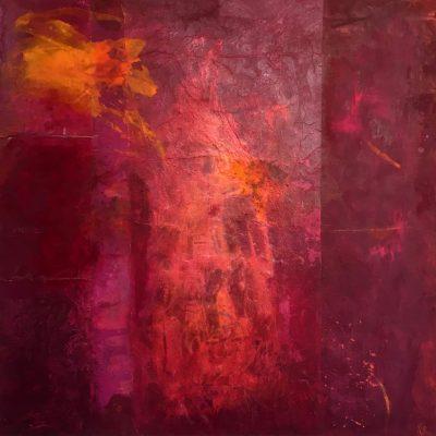 "Sabine Schuldt ""Incarne 5"", 2015, Acryl auf Leinwand, 70x71 cm"