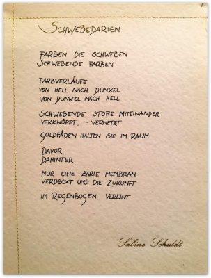 Sabine Schuldt Schwebedarien Text