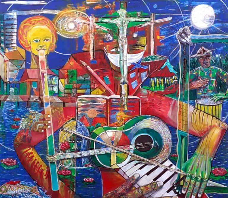 """Wolfgang Ramisch """"Bewegter Stillstnd"""", 2020, Öl auf Leinwand, 200x180 cm"""