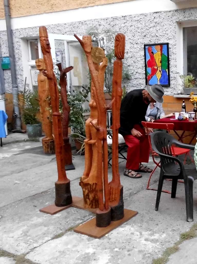 Wolfgang Ramisch, Skulpturen im Atelierhof