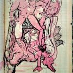 """Wolfgang Ramisch, aus dem Skizzenbuch """"Nr. 68"""", 2018, Tusche auf Papier"""