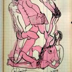 """Wolfgang Ramisch, aus dem Skizzenbuch """"Nr. 69"""", 2018, Tusche auf Papier"""