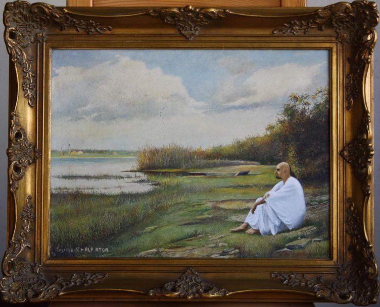 """""""Alf Ator sitzt am Ufer"""", 55x45 cm (mit Rahmen)"""