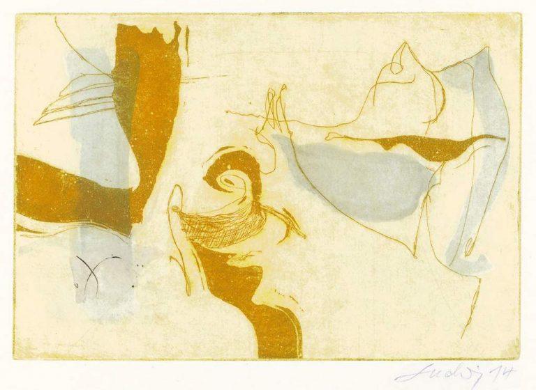 """Angelika Ludwig """"Caprice"""", 2014, Aquatinta, 14x21 cm"""