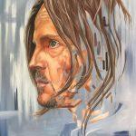"""Antje an der Spree """"Alex"""", 2017, 80x60 cm, Acryl auf Leinwand"""