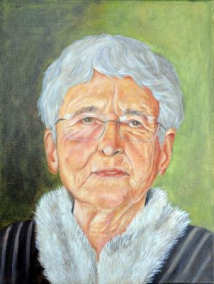 "Antje an der Spree, ""Christiane"", 2011, 40x30 cm, Öl auf Leinwand"