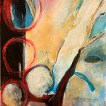 """Clara Kirschbaum """"Vielleicht Fernweh"""", 2018, Acryl und Öl auf Canvasboard, 40x30 cm"""