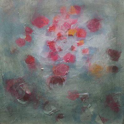 "Dagmar Hintzmann ""Pink Flower"", 2015, 30x30 cm, Acryl auf Leinwand"