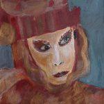 "Elisabeth Lüchtefeld, ""Masken Venedigs"" 1, Acryl auf Bütten, 31x43 cm, 2010"