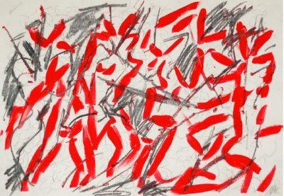 Ingrid-Bertel-Angel Suite Piazzolla 2012 Graphit-Tuschezeichnung 60x42