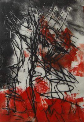 "Ingrid Bertel, ""Wislawa Szymborska 1"", Radierung, 2014, 20x30 cm"