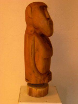 """Jan Ristau, Skulptur """"Moai - Ich kann warten"""""""