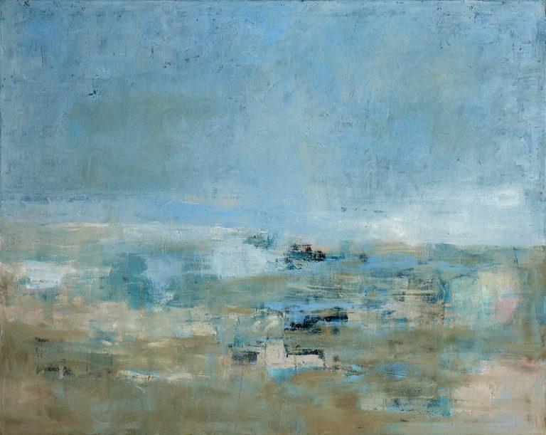 "Sibylle Meister, ""Nordsee"", 2014, Öl auf Leinwand, 80x100 cm"