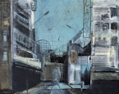 "Sibylle Meister, ""städtisch (Rosenthaler)"", 2016, 40x50 cm, Öl auf Leinwand"