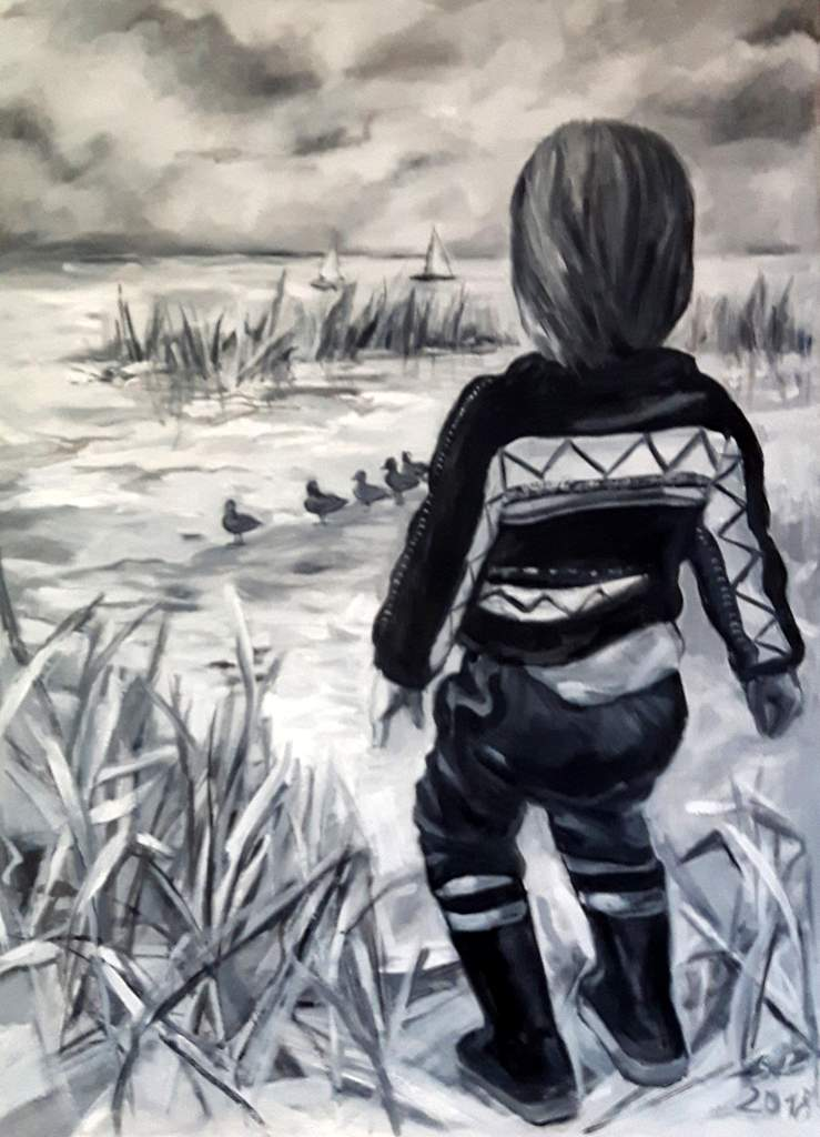 """Stella Krehl """"Aussicht"""", 2018, Öl auf Leinwand, 60x80 cm"""