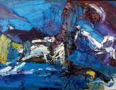 "Stella Krehl ""Küste"", 1997, Öl auf Leinwand, ca 80x60 cm"