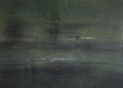 "Beatrice-Falck ""Flakensee"", 2017, Öl auf Leinwand, 140x100 cm"