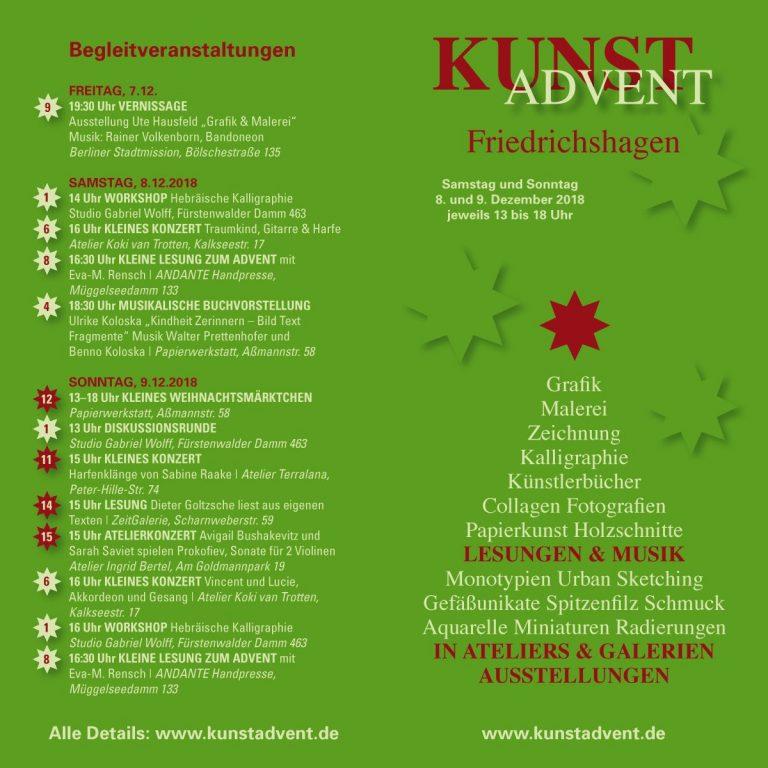 Faltblatt Kunstadvent Friedrichshagen 2018-aussen