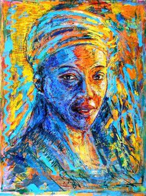 09_Michael Wahl_Afrikanerin_2013-Acryl auf Leinwand-80x60cm