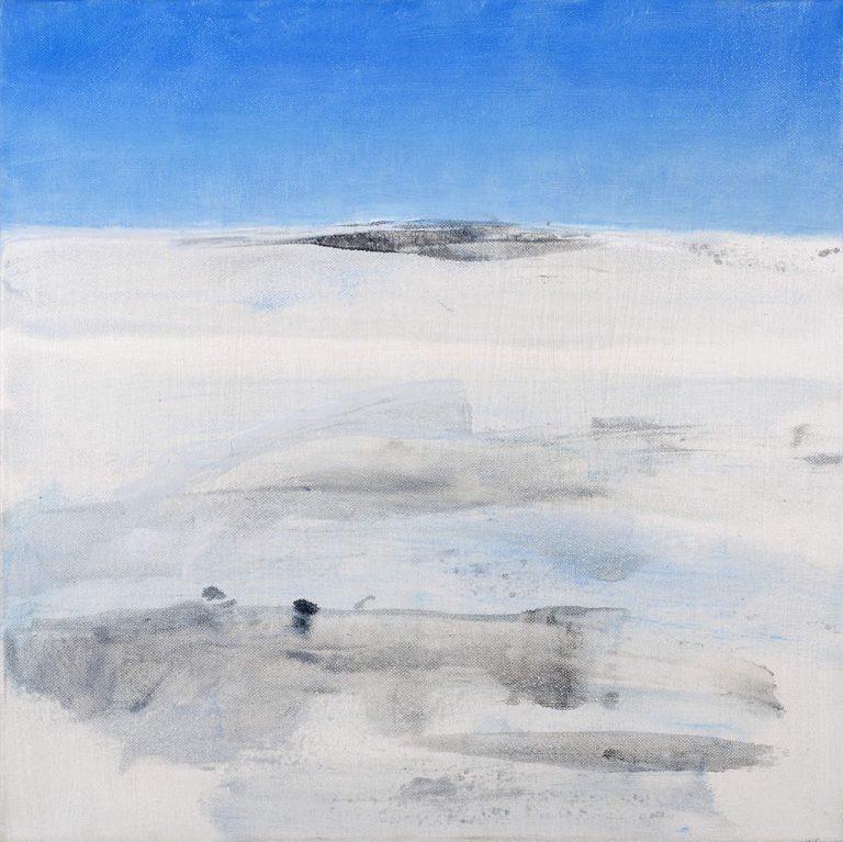 Sibylle Meister, horizonte -island-2017-Oel auf lw,40x40cm