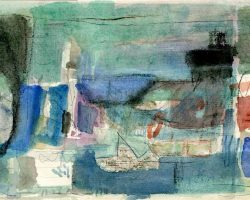 """Egon Bresien, """"Hope"""", 2012, Aquarell, 31x17 EG 90 €"""