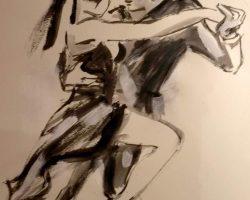 Stella Krehl_Allein_2019_Acryl_Papier_50x40-Auktion2019
