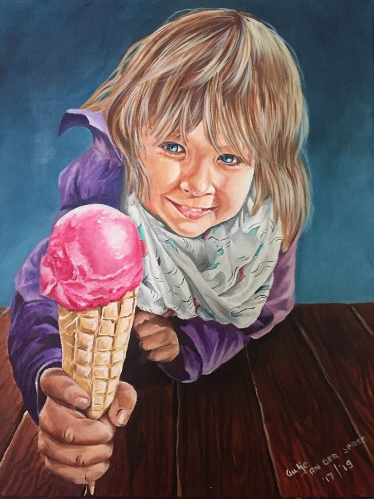 """""""Milas Eis"""", 2019, Acryl auf Leinwand, 60x40 cm"""