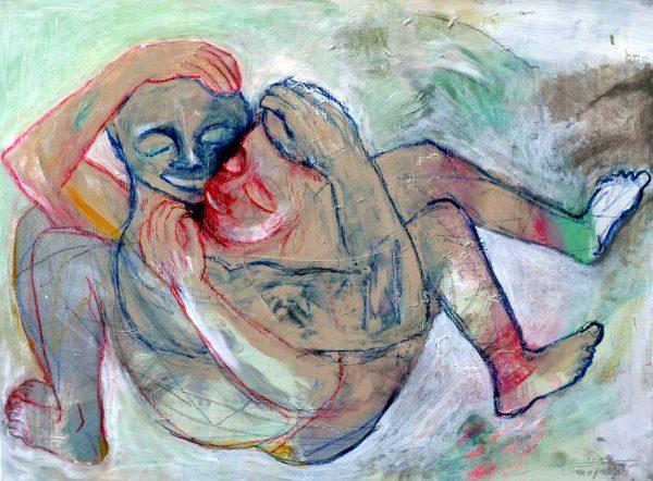 Dominique Kleiner_Innig_Acryl auf Leinwand-Kunstauktion2020