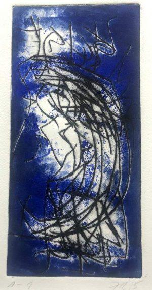 Ingrid Bertel_Haiku_Farbradierung_Auktion2020