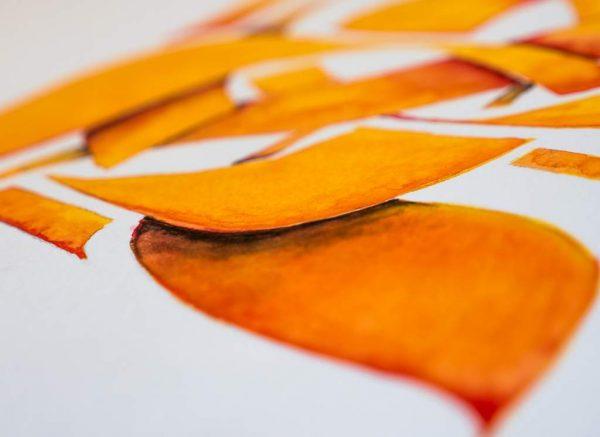 "Gabriel Wolff ""LOVE"", Aquarel on Paper, Detail"