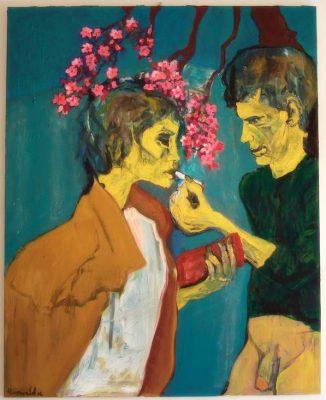 "Henry Korwald ""young couple"", 2016, Öl auf Leinwand, 150x120 cm"