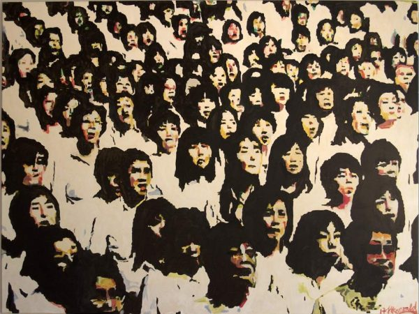 "Henry Korwald ""chinese choir"", 2017, Öl auf Leinwand, 160x120 cm, 1.700,00 €"