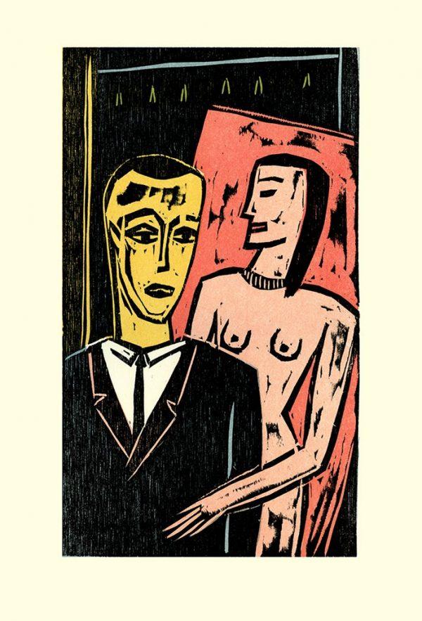 """Peter Rensch, aus Else Lasker-Schüler """"Weltende"""", Künstlerheft mit Farbholzschnitten, 2020, 180 Euro"""