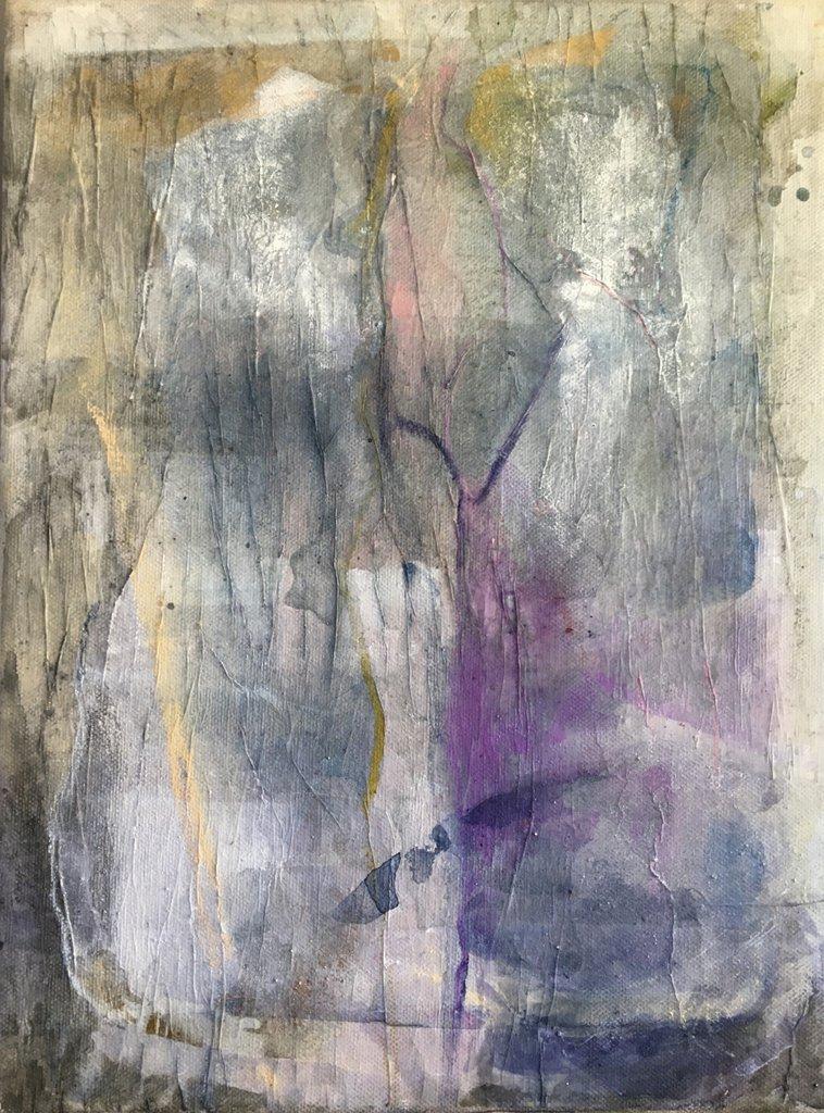 """Sabine Schuldt """"Freundschaft 2"""", 2019, Acryl auf Leinwand, 30x40 cm, 320 Euro"""