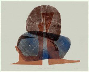 """Ulrike Koloska: """"Wächter des Zedernwaldes"""", 2020, Holzschnitt auf Achatpapier, 80x60 cm, 495 Euro (inkl. Rahmen)"""