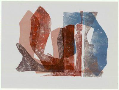 """Ulrike Koloska: """"Baue das Schiff sogleich!"""", 2020, Holzschnitt auf Achatpapier, 80x60 cm, 495 Euro (inkl Rahmen)"""