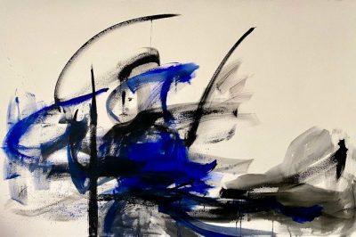 "Verena Hemmerlein ""Lost in translation"", Acryl auf Leinwand,100x160 cm, 2020"
